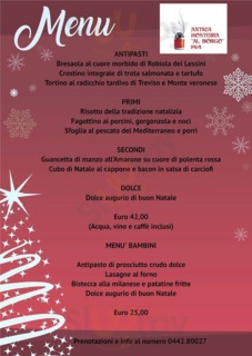 "Menu Ristorante Pizzeria ""Al Borgo 1964"""