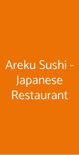 Menu Areku Sushi - Japanese Restaurant