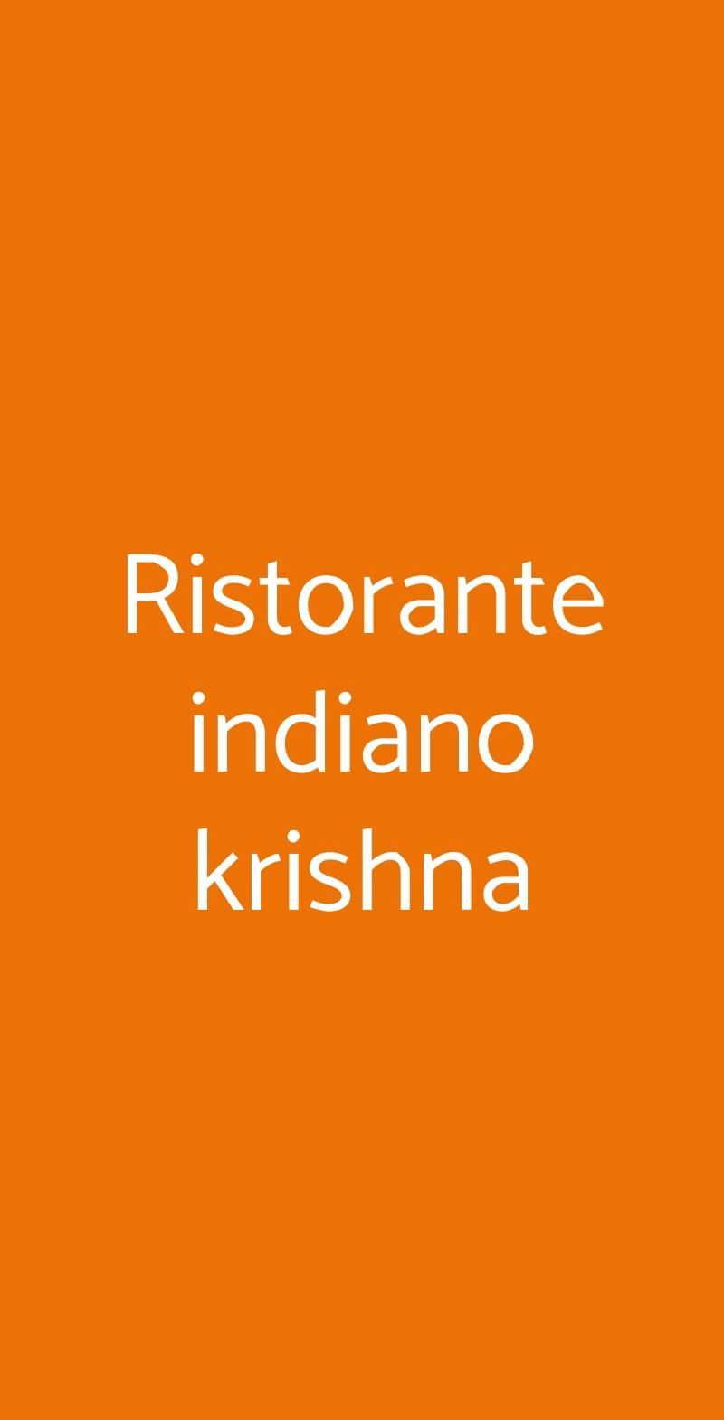 Ristorante indiano krishna Padova menù 1 pagina