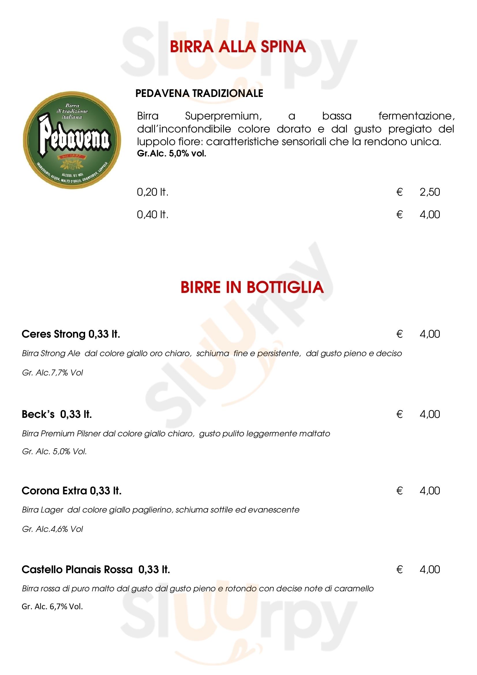 Niki Bar Cicchetteria Venezia menù 1 pagina