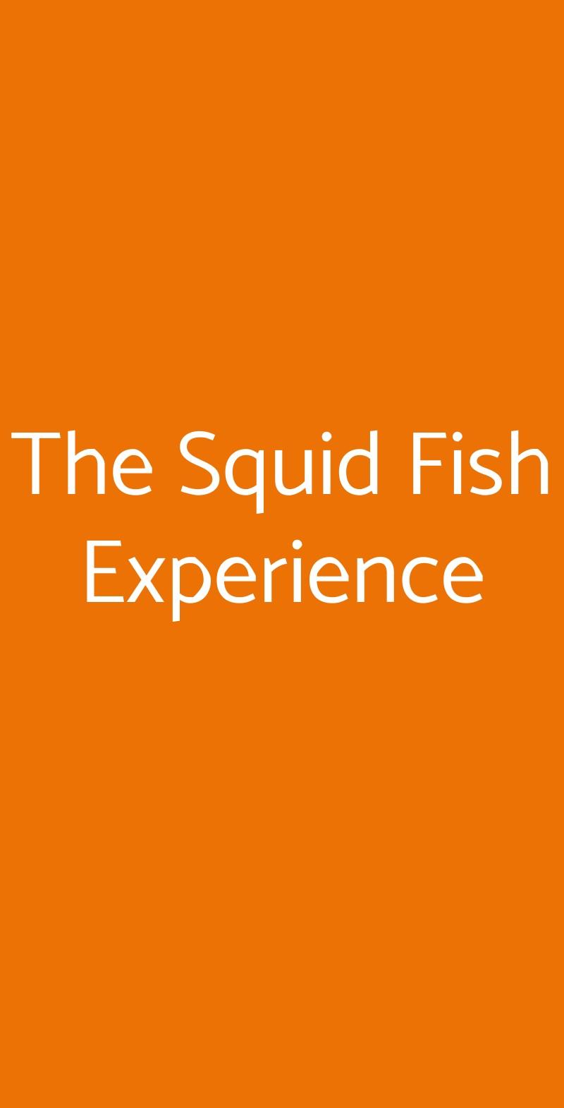 The Squid Fish Experience Padova menù 1 pagina
