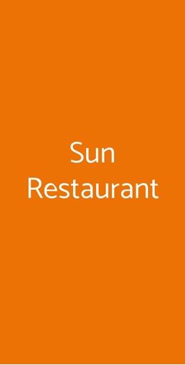 Sun Restaurant, Verona