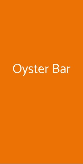 Oyster Bar, Milano