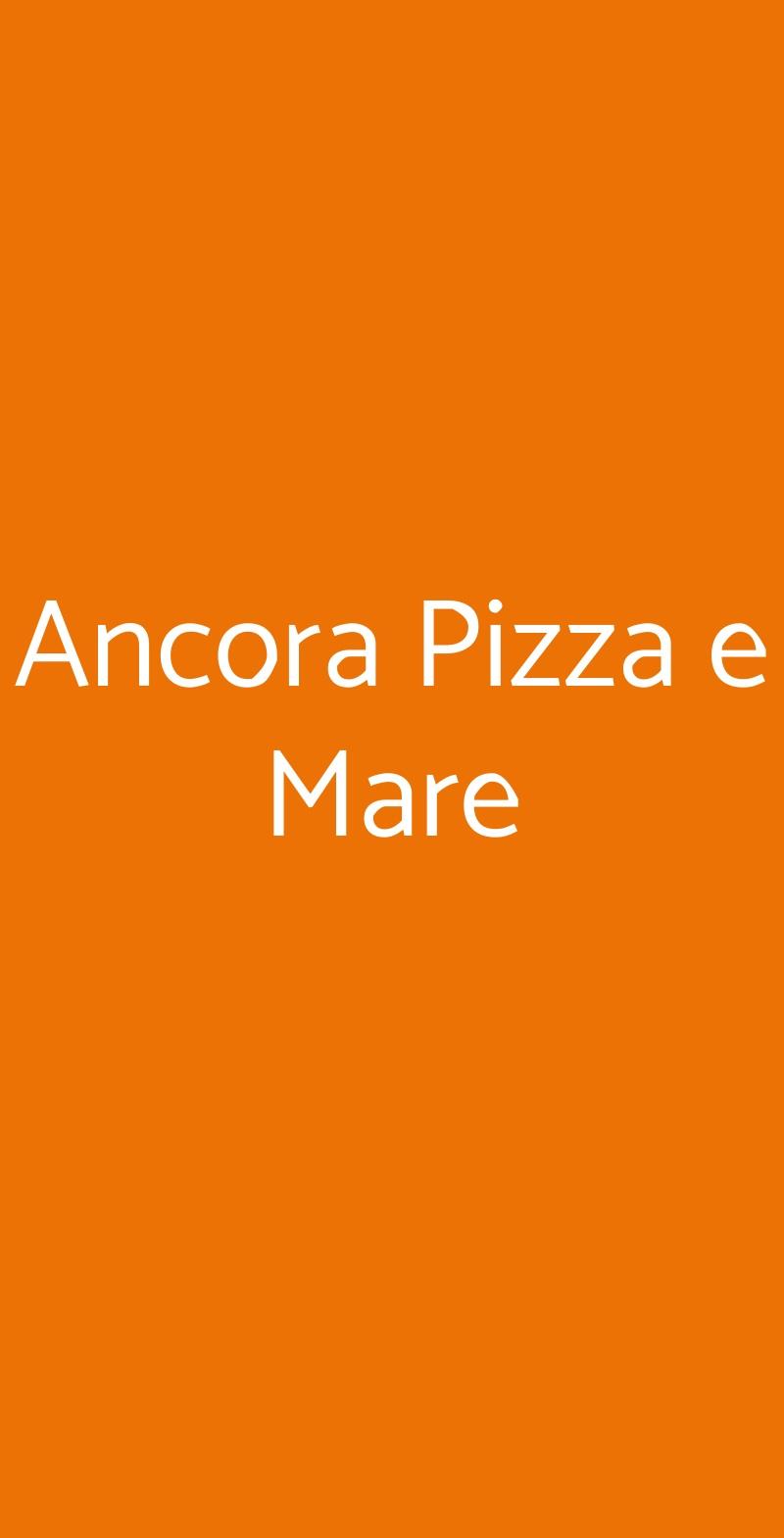 Ancora Pizza e Mare Tortona menù 1 pagina