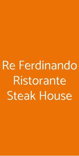 Re Ferdinando Ristorante Steak House, Procida