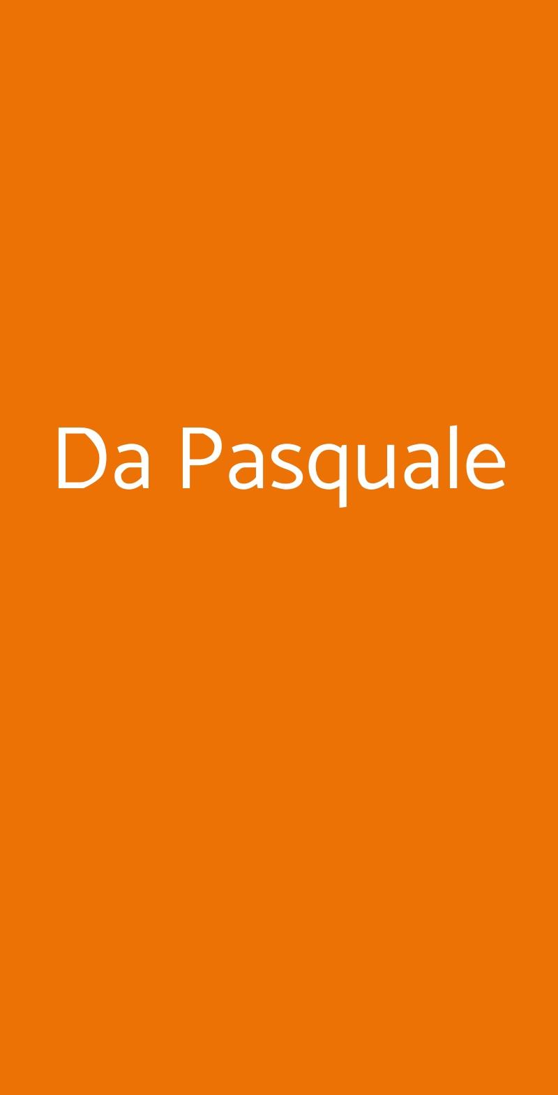 Da Pasquale Capri menù 1 pagina