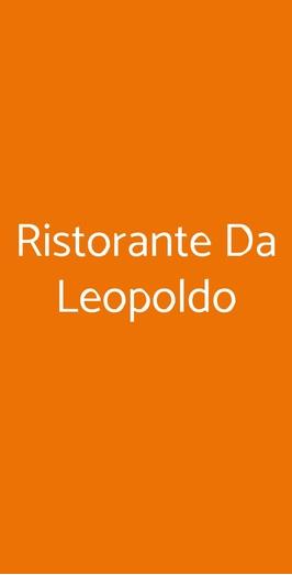 Ristorante Da Leopoldo, Forio