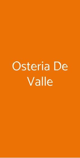 Osteria De Valle, Trieste