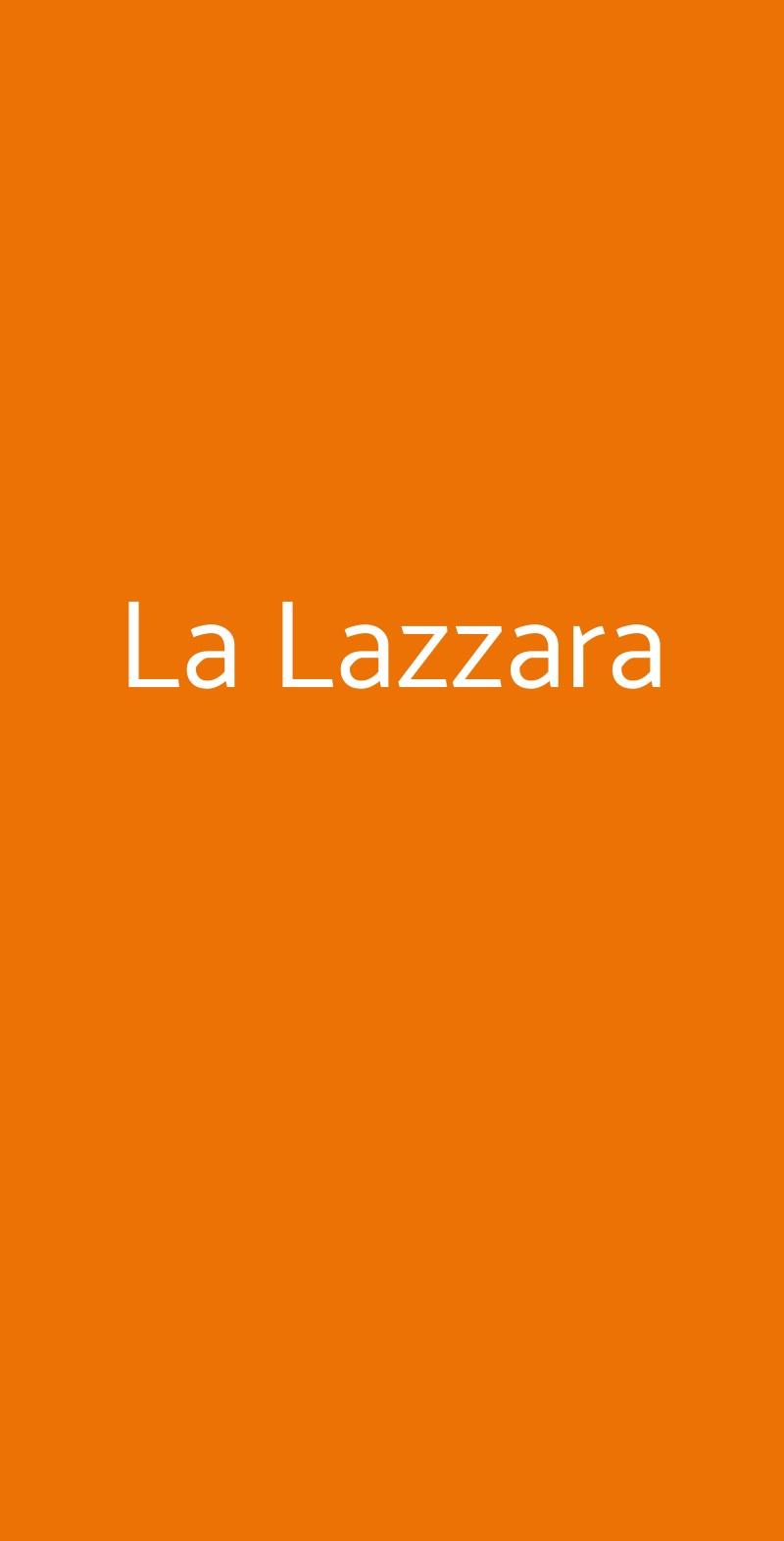 La Lazzara Napoli menù 1 pagina