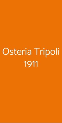 Osteria Tripoli 1911, Mantova