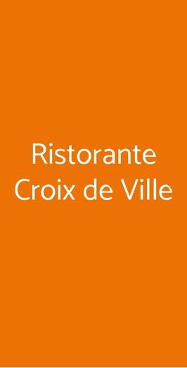 Ristorante Croix De Ville, Aosta