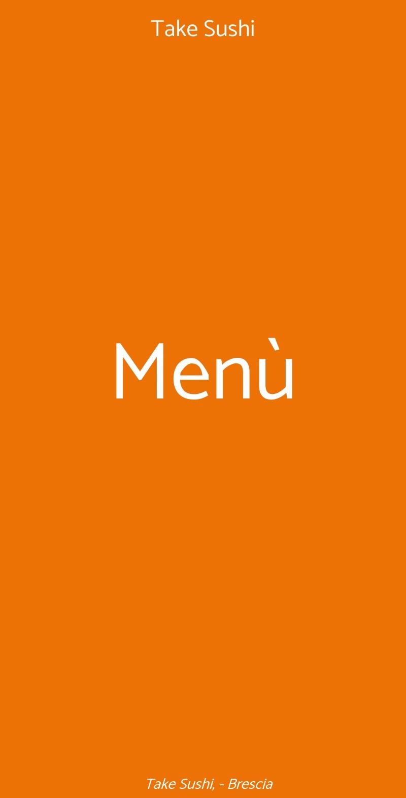 Take Sushi Brescia menù 1 pagina