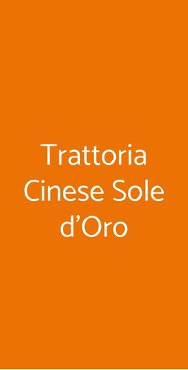 Trattoria Cinese Sole D'oro, Milano