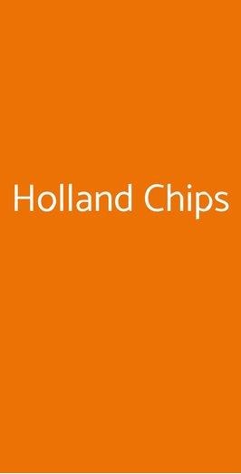 Holland Chips, Forlì