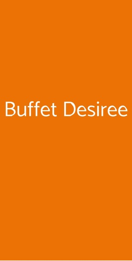 Buffet Desiree, Trieste