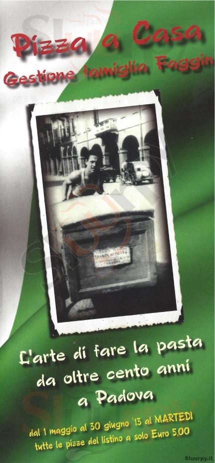 PIZZA A CASA Padova menù 1 pagina