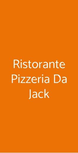 Ristorante Pizzeria Da Jack, Castell'Alfero