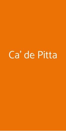 Ca' De Pitta, Genova