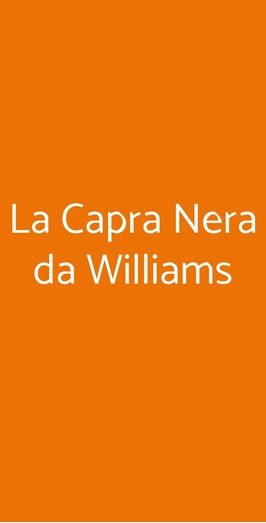 La Capra Nera Da Williams, Castrocaro Terme