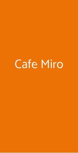 Cafe Miro, Trapani
