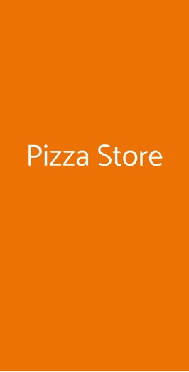 Pizza Store, Altamura