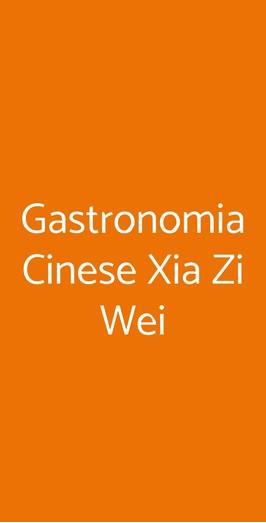 Gastronomia Cinese Xia Zi Wei, Genova