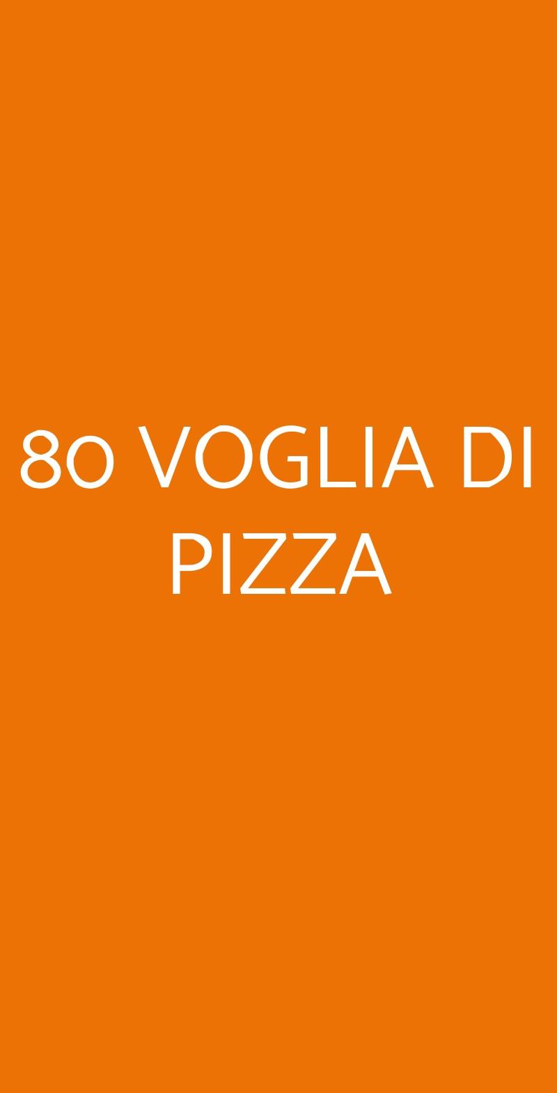 80 VOGLIA DI PIZZA Roma menù 1 pagina
