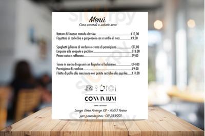 Menu Convivium Cafe&Bistrot