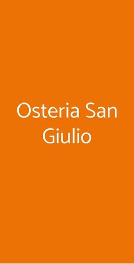 Osteria San Giulio, Bellinzago Novarese