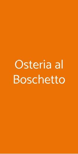 Osteria Al Boschetto, Ravenna
