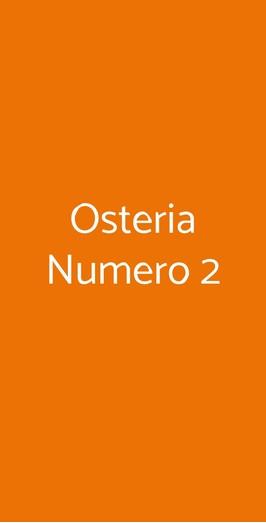 Osteria Numero 2, Stradella