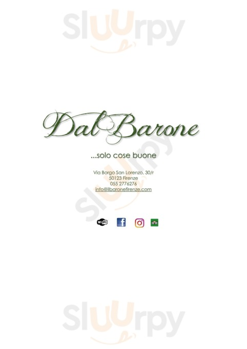 Menu Dal Barone