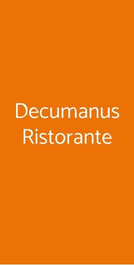 Decumanus Ristorante, Firenze
