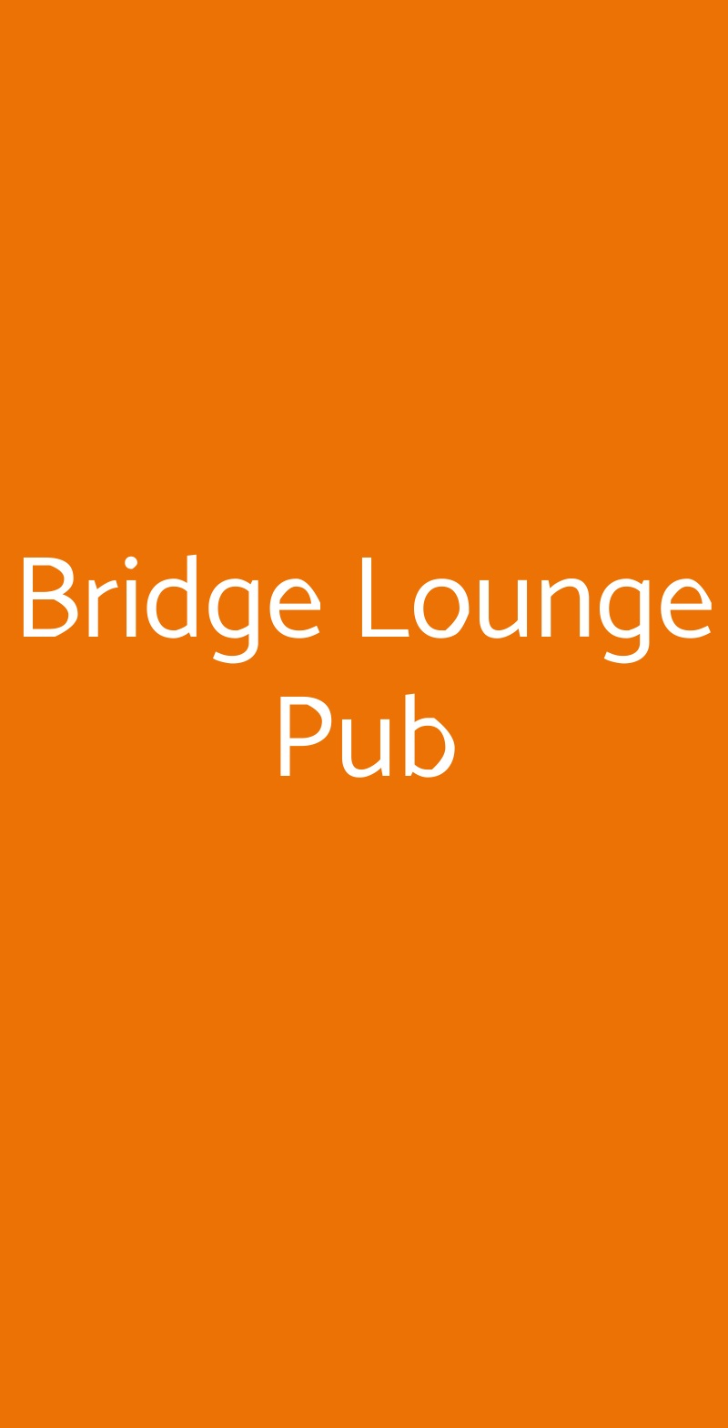 Bridge Lounge Pub Reggio Calabria menù 1 pagina