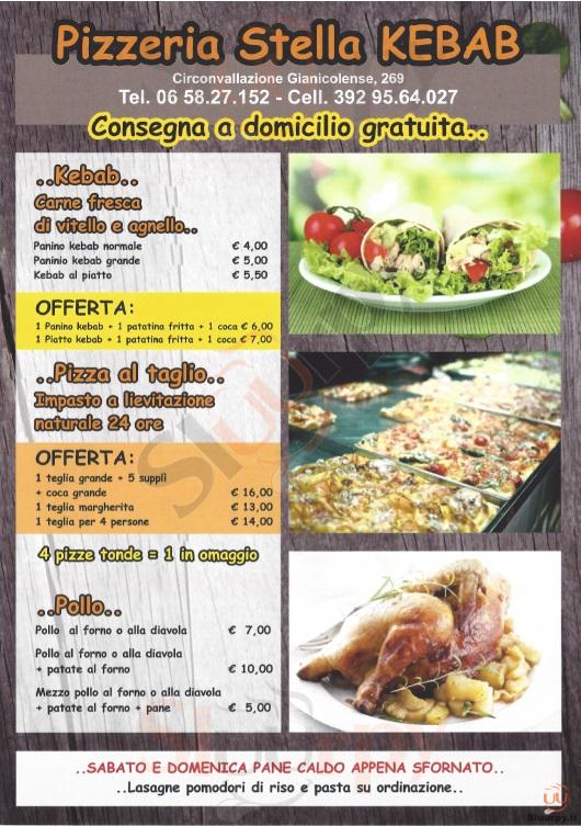 STELLA Roma menù 1 pagina