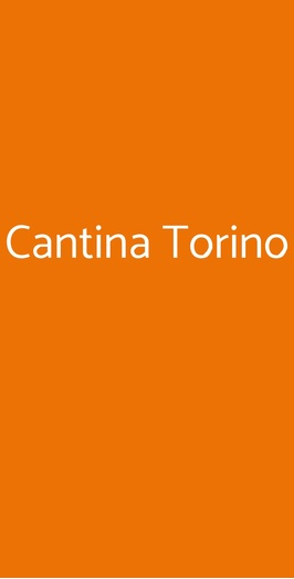 Cantina Torino, Torino