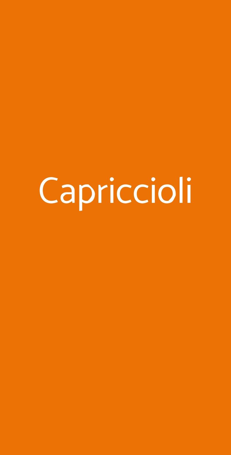 Capriccioli Torino menù 1 pagina