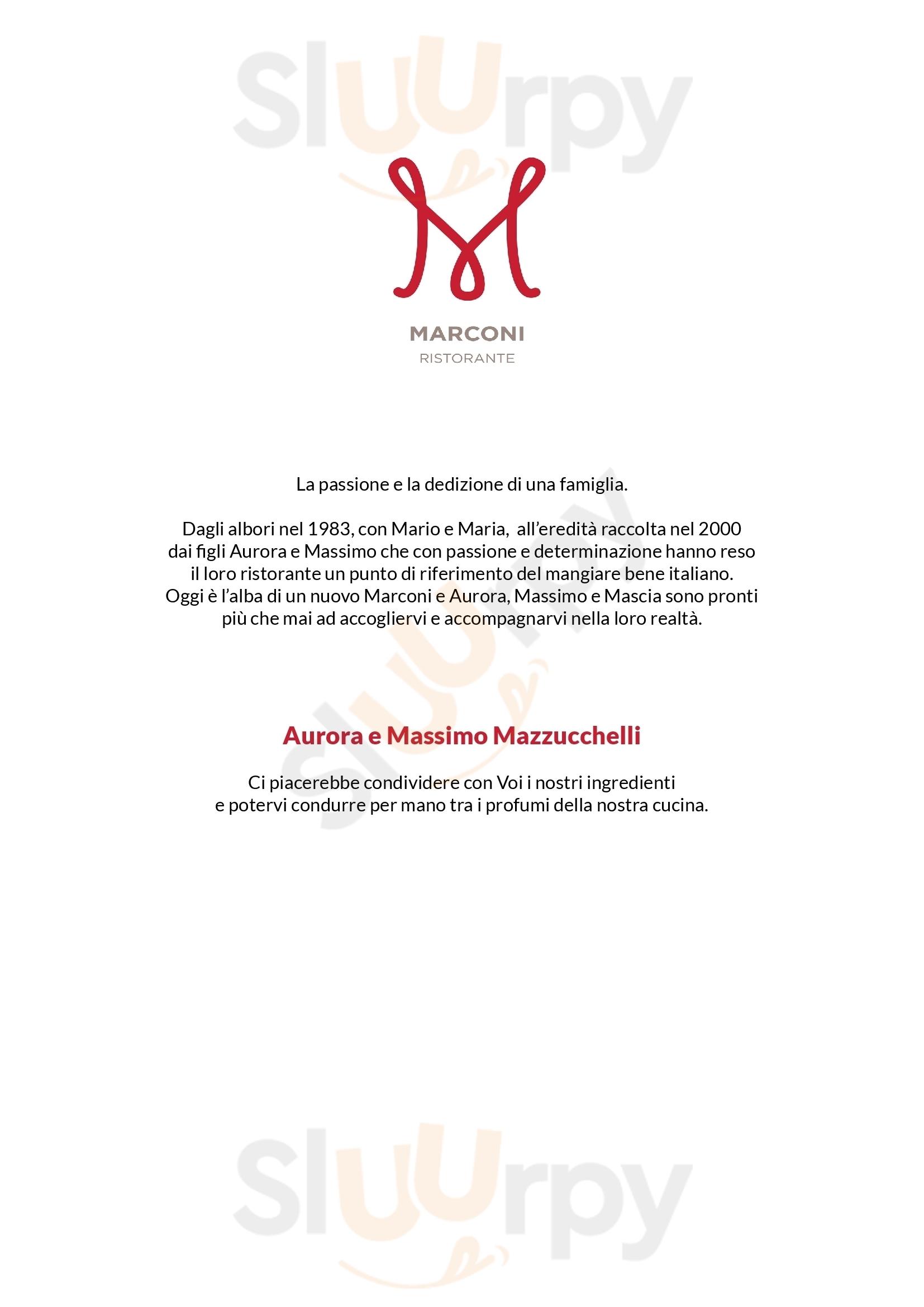 MARCONI Sasso Marconi menù 1 pagina