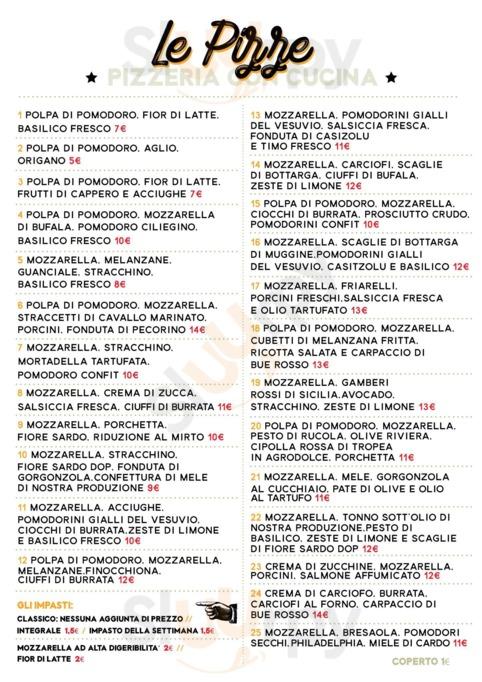 Menu Civico 8 Pizzeria Con Cucina