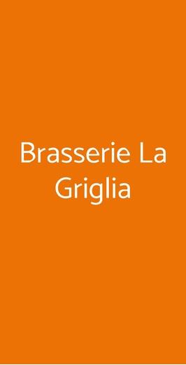 Menu Brasserie La Griglia