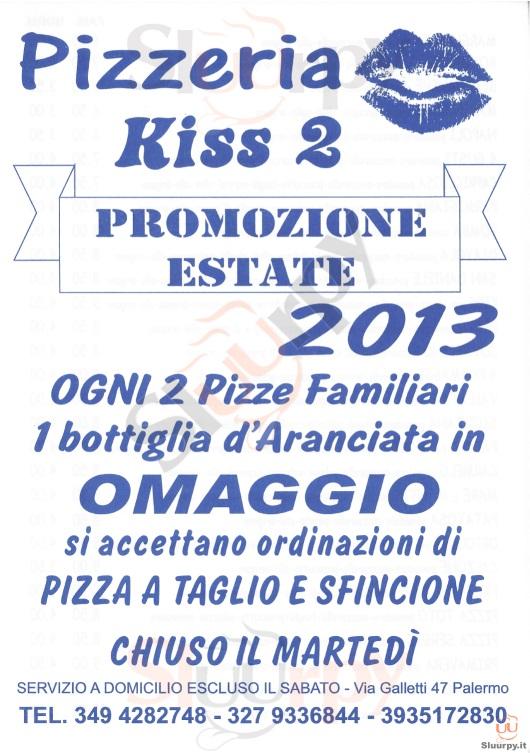 KISS 2 Palermo menù 1 pagina