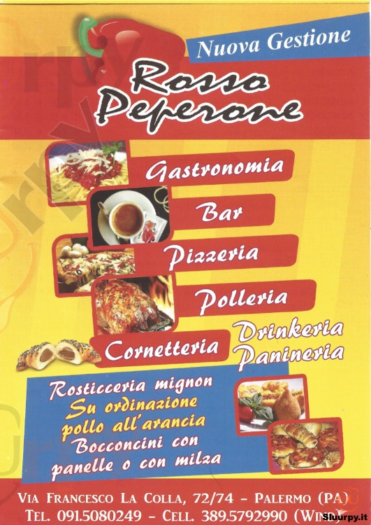 ROSSO PEPERONE Palermo menù 1 pagina