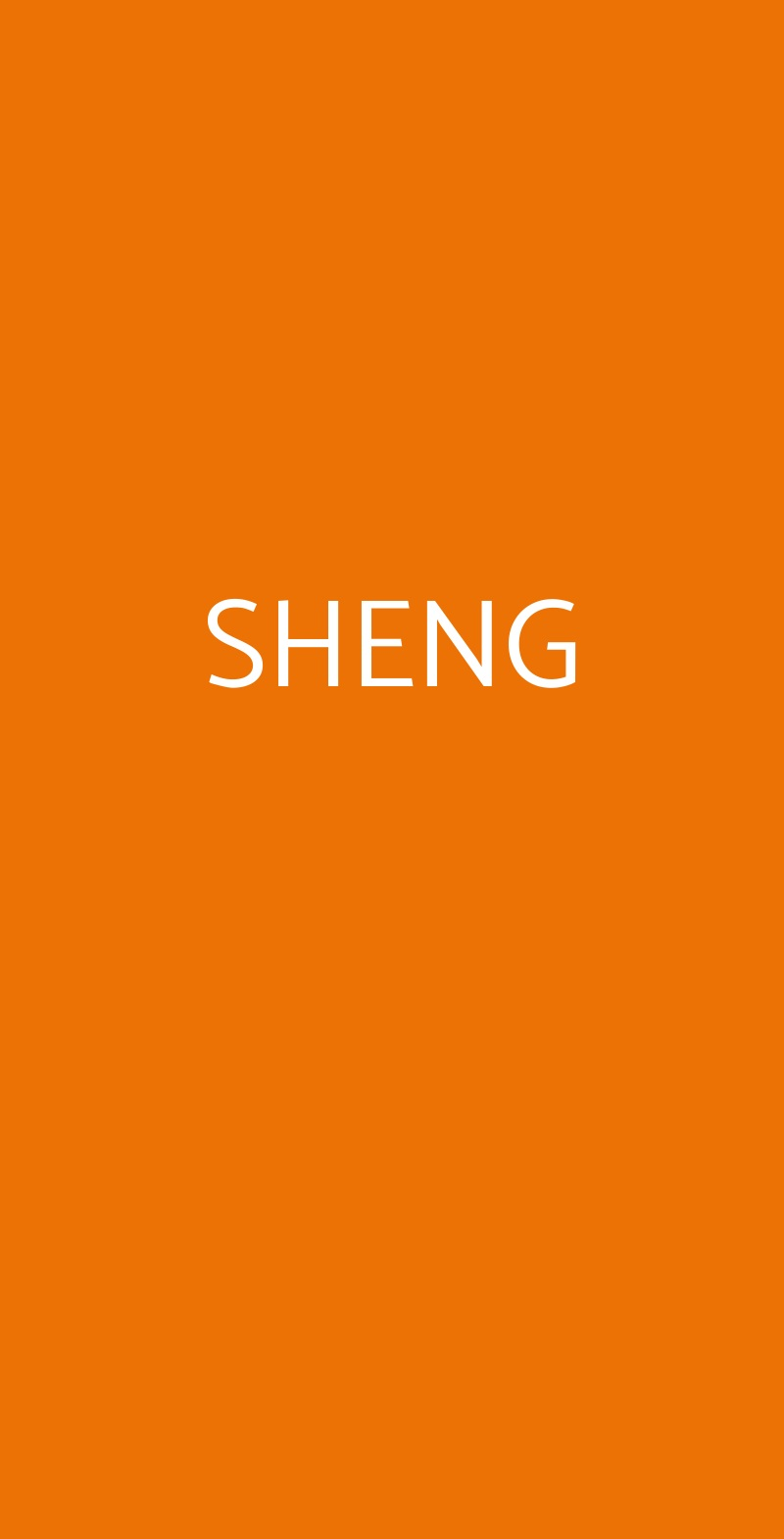 SHENG Genova menù 1 pagina