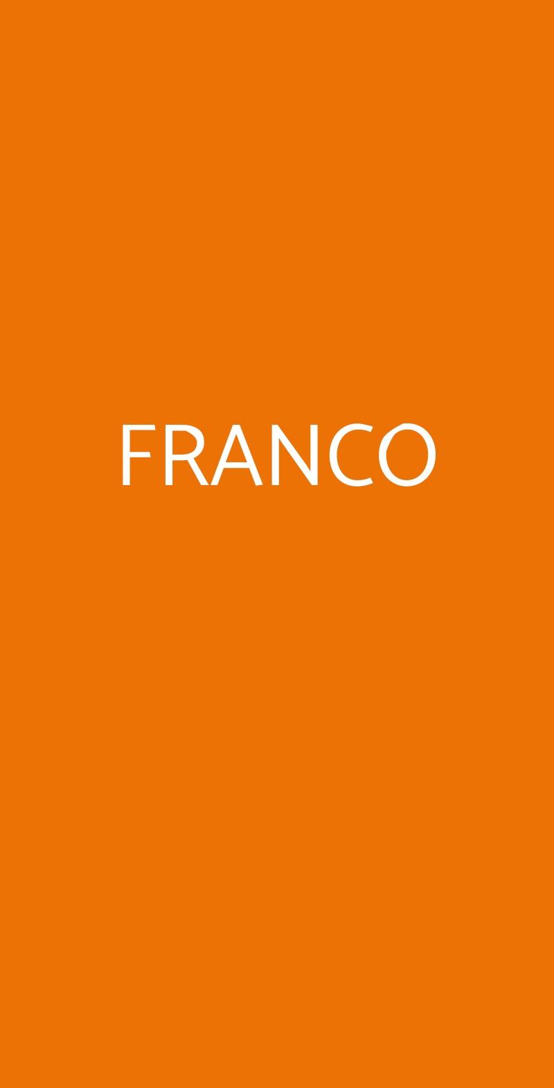 FRANCO Genova menù 1 pagina