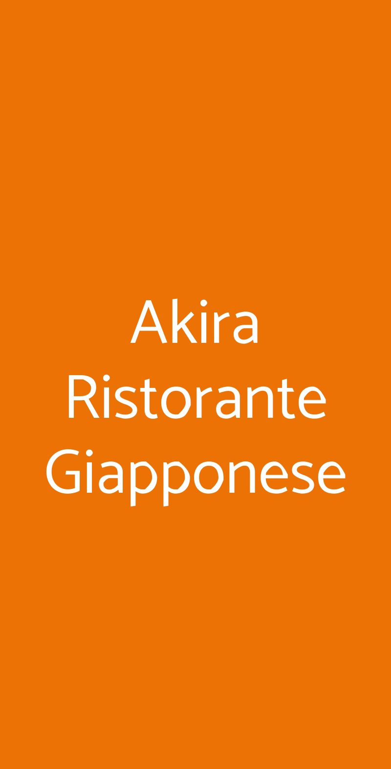 Akira Ristorante Giapponese Piacenza menù 1 pagina