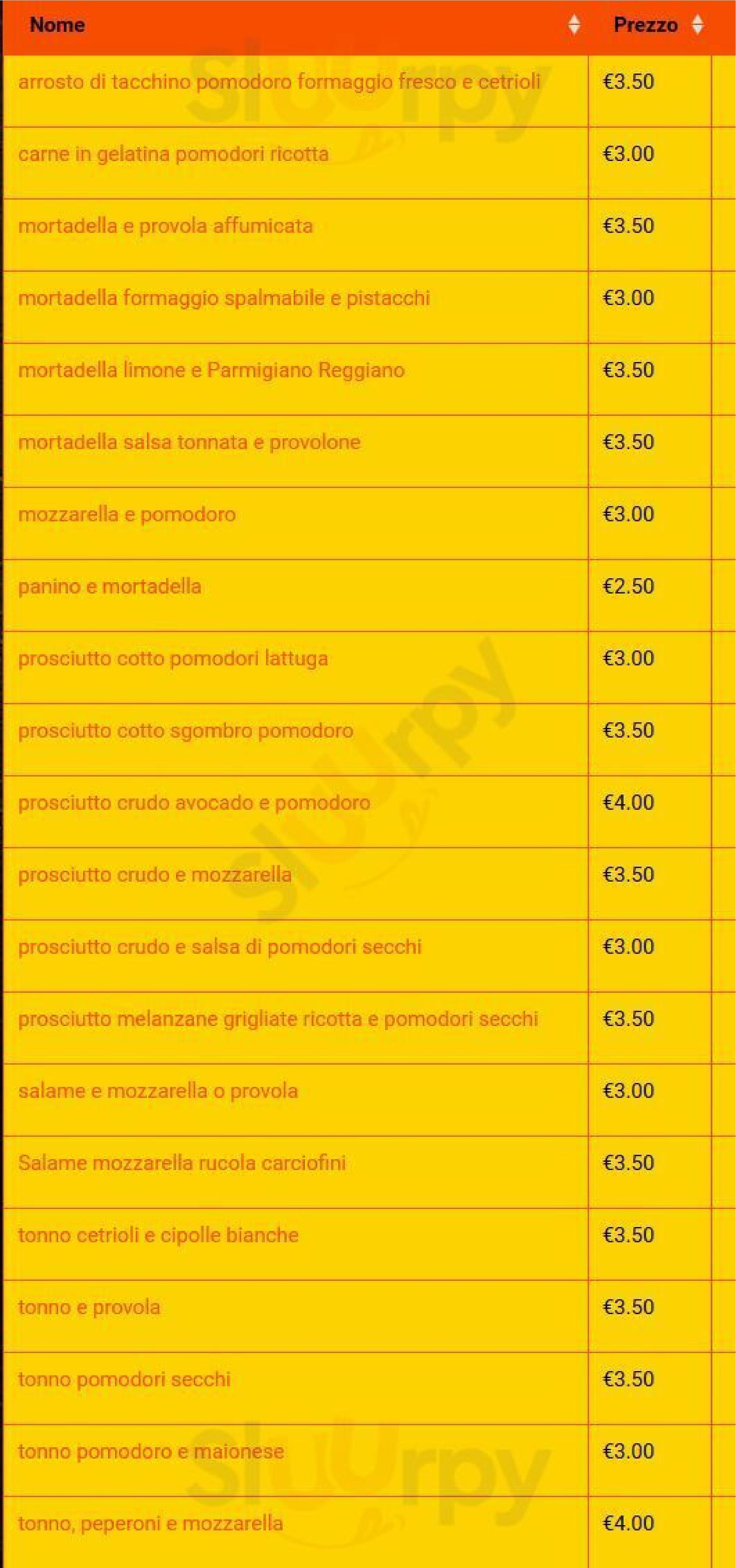 PANINoPs Napoli menù 1 pagina