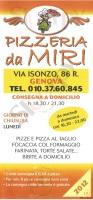 Da Miri, Genova