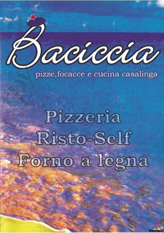 BACICCIA Savona menù 1 pagina