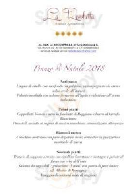 Agriturismo La Rocchetta Ferrara menù 1 pagina