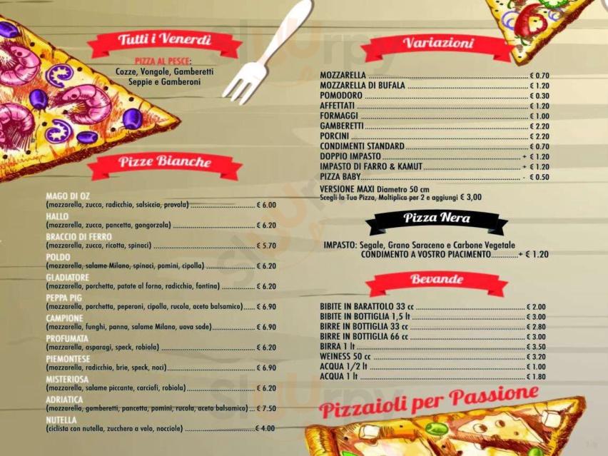Menu Pizza Casa Del Borgo Faenza Specialita E Piatti Del Menu Principale